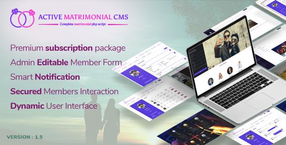 Active Matrimonial CMS - CodeCanyon Item for Sale