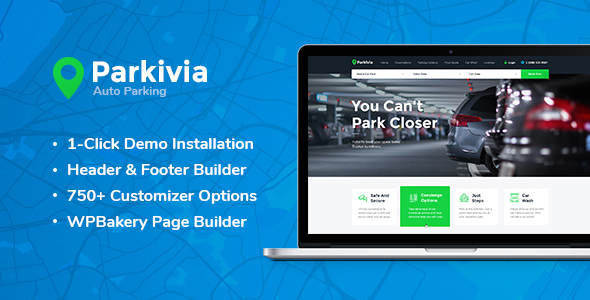 Parkivia | Auto Parking & Car Maintenance WordPress Theme - Retail WordPress