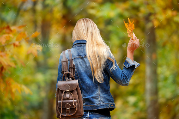 Having fun in autumn park - Stock Photo - Images