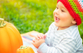 Happy baby on Thanksgiving day - PhotoDune Item for Sale