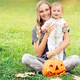 Mother and baby enjoying Halloween - PhotoDune Item for Sale