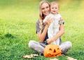Mother and baby enjoying Halloween - PhotoDune Item for Sale