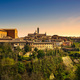 Siena sunset panoramic skyline. San Domenico and Duomo cathedral - PhotoDune Item for Sale