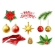 Vector Merry Christmas Realistic Symbols Toys Set - GraphicRiver Item for Sale