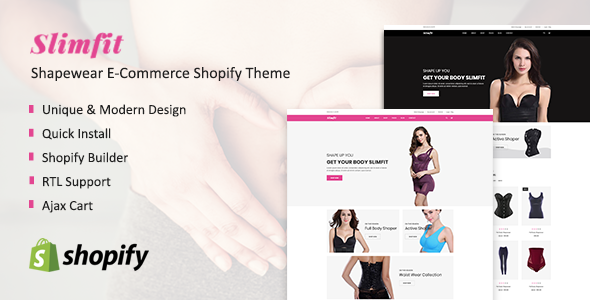 Slimfit - Shapewear eCommerce Shopify Theme - Health & Beauty Shopify