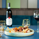 Tasty restaurant gastronomy with red wine on the table - PhotoDune Item for Sale