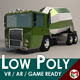 Low-Poly Cartoon Concrete Mixer Truck