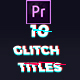 10 Glitch Titles Mogrt - VideoHive Item for Sale