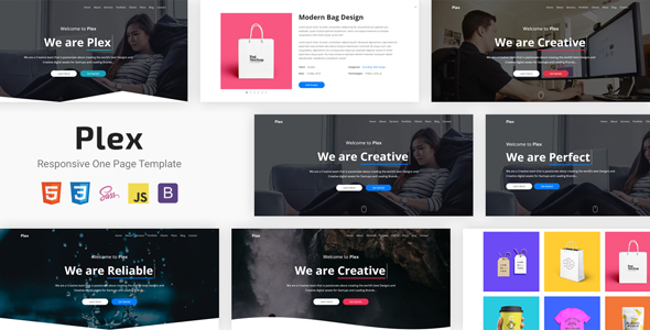 Plex - Responsive One Page Template - Creative Site Templates