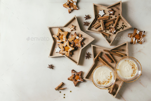 Christmas Eggnog cocktail - Stock Photo - Images
