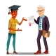Rector Presenting Diploma To Happy Student - GraphicRiver Item for Sale