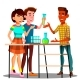 Group Of Students Standing At Table With Flasks - GraphicRiver Item for Sale
