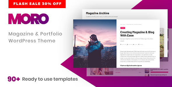 Moro - Multi-purpose Magazine Theme with Portfolio