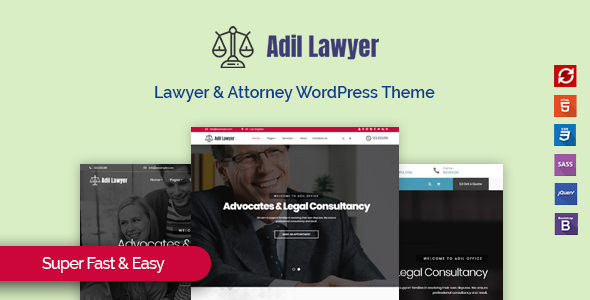 Adil - Lawyer & Attorney WordPress Theme