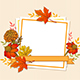 Floral Fall Frame with Leaves and Flowers - GraphicRiver Item for Sale