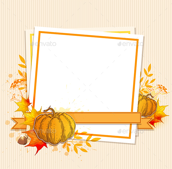 Autumn Background with Pumpkins - Seasons Nature
