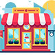 Supermarket Shop Building in Modern City Street - GraphicRiver Item for Sale