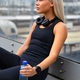 Thoughtful Runner Sitting On Bridge After Workout - PhotoDune Item for Sale