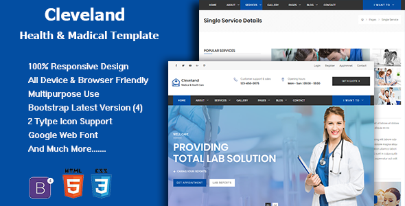 Cleveland - Responsive Health And Medical Template