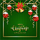 Green Knitted Background with Christmas Balls - GraphicRiver Item for Sale