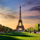 Sunrise and Eiffel Tower - PhotoDune Item for Sale