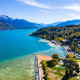 Aerial view of Annecy lake waterfront in France - PhotoDune Item for Sale
