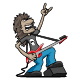 Heavy Metal Rock Guitarist Cartoon Vector Illustration - GraphicRiver Item for Sale