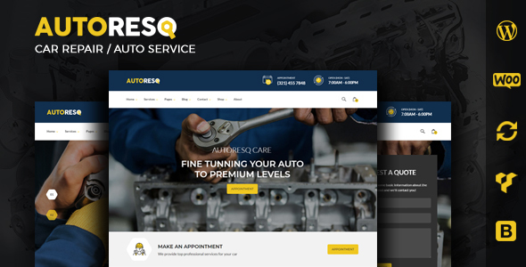 Autoresq - Auto Repair WordPress Theme
