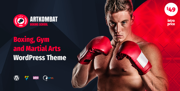 Art Kombat - Boxing School, Martial Arts, Karate, Gym and Fitness WordPress Theme