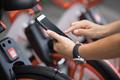 Scanning the bike sharing QR code - PhotoDune Item for Sale