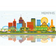 Memphis Tennessee Skyline with Color Buildings - GraphicRiver Item for Sale