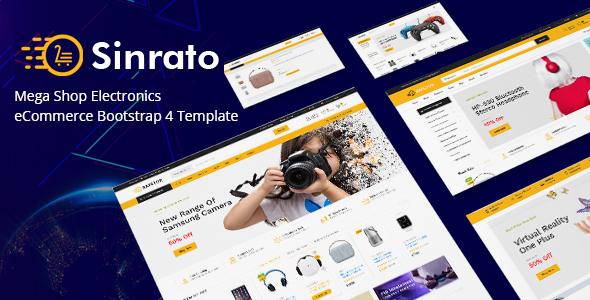 Sinrato - Mega Shop Electronics eCommerce Bootstrap 4 Template