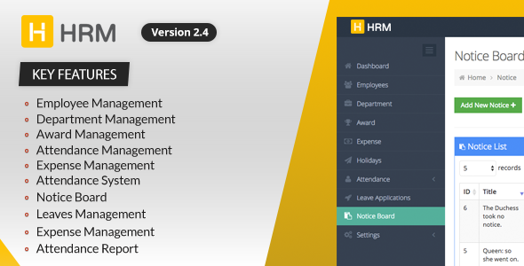 HRM - Human Resource Management - CodeCanyon Item for Sale