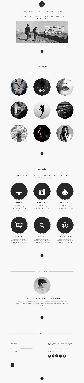 Me - OnePage Portfolio by MagnaThemes   ThemeForest