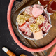 Set of various Turkish delight in bowl on metal tray near hookah tube - PhotoDune Item for Sale