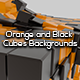Orange and Black Cubes Backgrounds - GraphicRiver Item for Sale