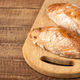 Ciabatta buns on wooden table - PhotoDune Item for Sale