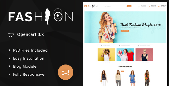 Fashion - OpenCart 3.x Responsive Theme - Fashion OpenCart