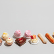 Sweet dessert composed in two rows. - PhotoDune Item for Sale