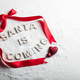 SANTA IS COMIG text and red ribbon - PhotoDune Item for Sale