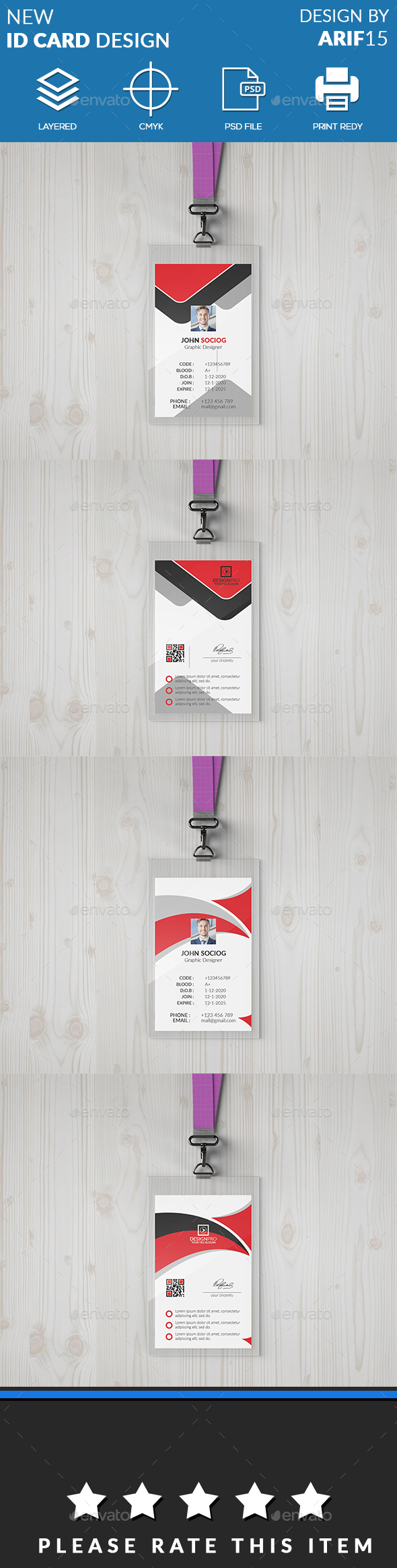 ID Card Bundle - Miscellaneous Print Templates