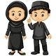 Indonesian Boy and Girl In Black Costumes - GraphicRiver Item for Sale