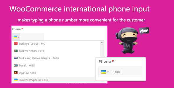 WooCommerce international phone input - CodeCanyon Item for Sale