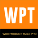 Woo Products Table Pro - Making Quick Order Table - CodeCanyon Item for Sale