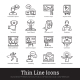 Business Presentation, Public Speech Linear Icons - GraphicRiver Item for Sale