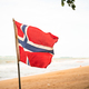 The Norwegian flag waving in the wind-2 - PhotoDune Item for Sale