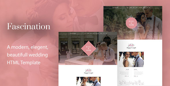 Fascination - Wedding HTML5 Template