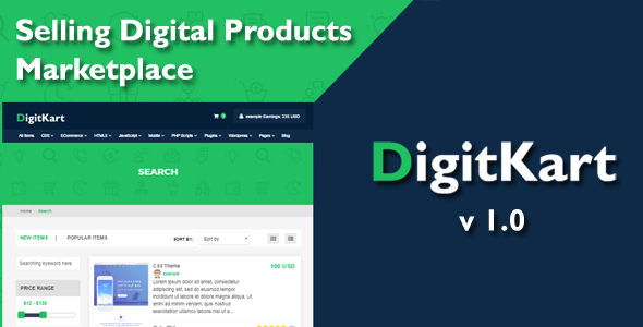 DigitKart Multivendor Digital Products Marketplace Free Download | Nulled