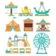 Amusement Park Design Elements Set - GraphicRiver Item for Sale