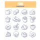 Food & Drink Doodle Icons - GraphicRiver Item for Sale